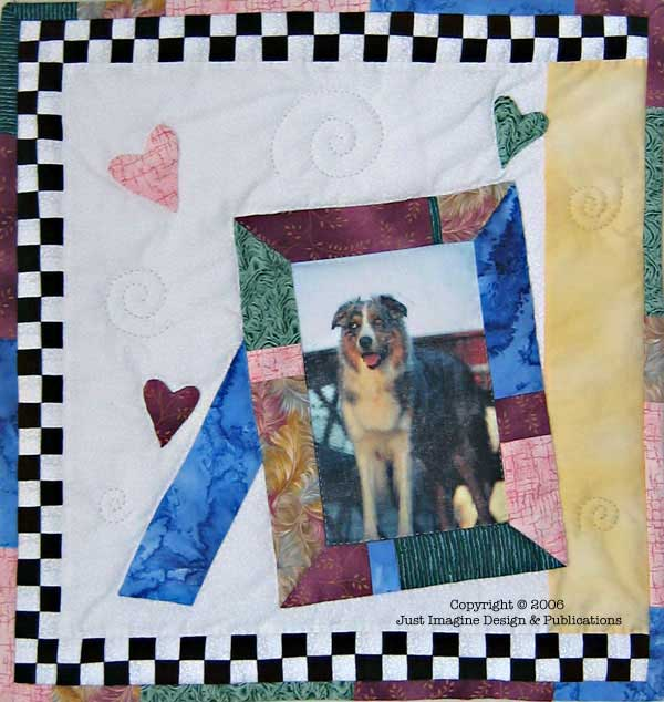 jazzy border photo frame close up