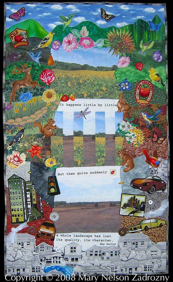 Central New York Farmland Quilt