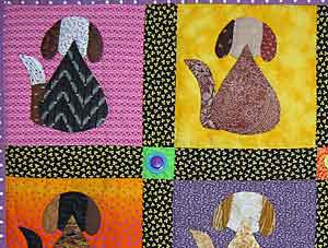 Dog Daze quilt detail
