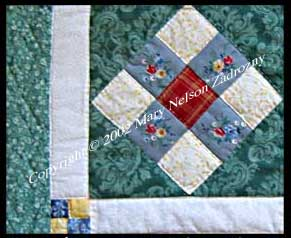 9 patch Quilt Detail