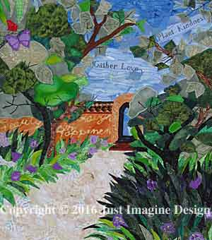 pathway of peace Quilt Detail