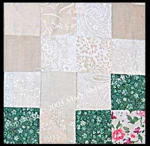 Scrap Heart Quilt Detail Photo