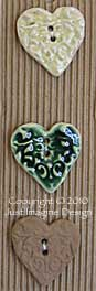 hearts ceramic button set