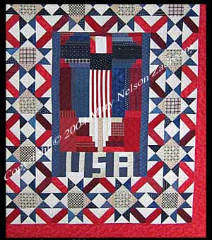 Some Gave All quilt detail