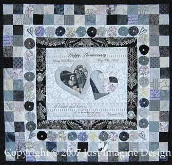 Wedding Remembrance Quilt in Silver